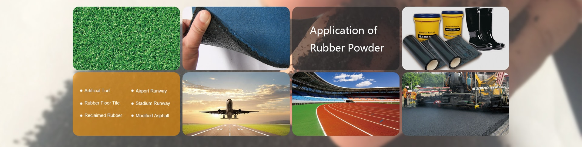 Application Rubber Powder