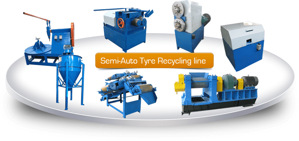 Semi Automatic Tyre Recycling Line