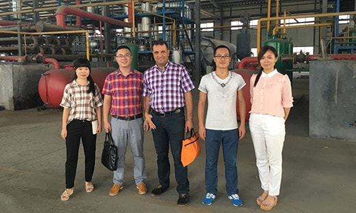 Turkey customers visit our tyre pyrolysis plant