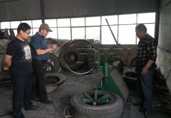 kazakhstan's customer visit tyre recycling system