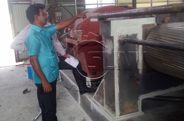 Indian customer visit the Auto tyre recycling machine system