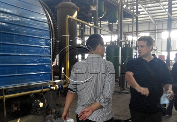 Australian customer visit tyre pyrolysis system