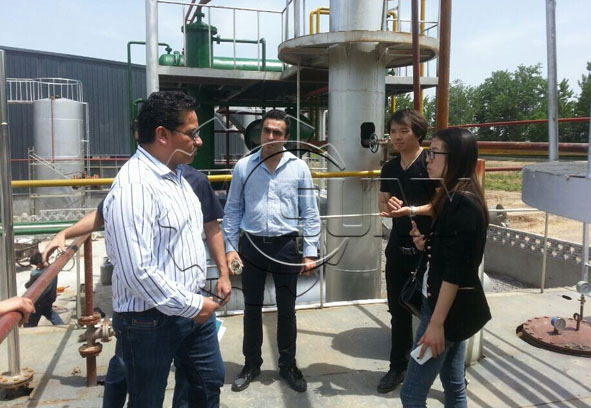 Pakistan clients to visit waste tire pyrolysis project