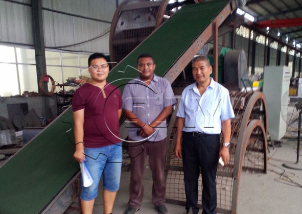 Ethiopia's customer visit Fully automatic Tyre Recycling Line