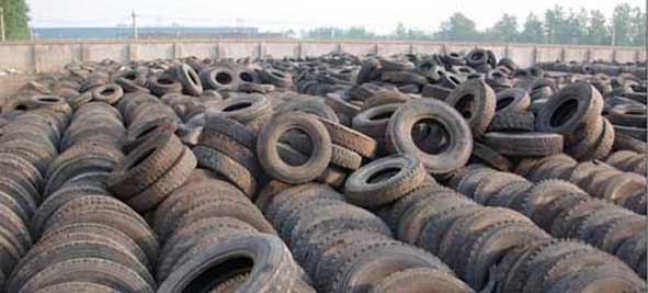 What is the waste tyre recycling line?