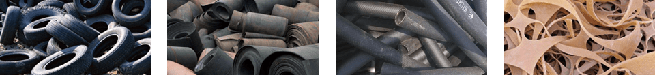 How can I recycling the waste rubber tires?