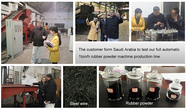 saudi-arabia-customers-inspection-full-automatic-tyre-recycling-line