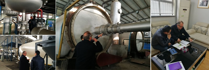 Brazilian Customer Inspect The Pyrolysis Project