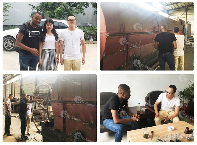 Cameroon Customer Inspect Pyrolysis Project